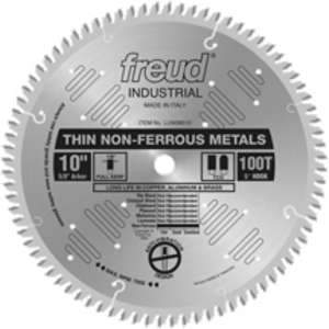 Freud LU90M010 10in 100 Tooth TCG Thin Stock Non-Ferrous Metal Cutting Saw Blade  5/8 in Arbor