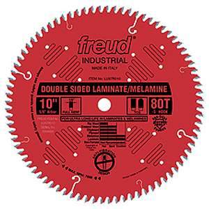 Freud, LU97R010 10'' Double-Sided 80TCG Tooth Laminate / Melamine Saw Blade 5/8'' Arbor 13916