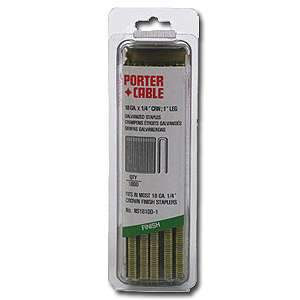 Galvanized, 1/4'' Narrow Crown Staples (1'')