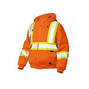 Work King Hi-Visibility Zip-Front Fleece Hoodie CSA s494 by Tough Duck