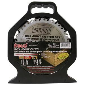 Freud SBOX8 8'' Box Joint Cutter Set 1/4'' X 3/8'' Dado 5/8'' Arbor
