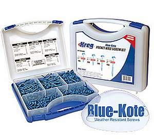 Kreg, SK03B Blue-Kote Pocket-Hole Screw Kit 14300