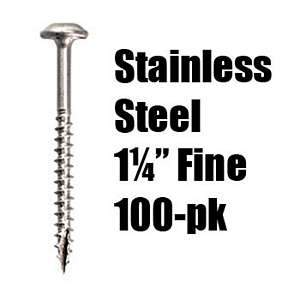 *Kreg, SML-F125S5 Stainles Steel 1¼'' Fine Pocket Hole Screws (100-pk) 15579