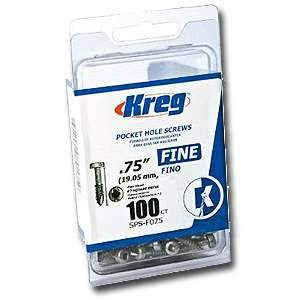 Kreg, SPS-F075-100 Pocket Hole Screws,3/4-inch 100pk Fine 12510