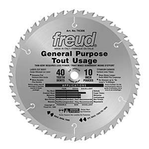 Freud, TK306 10in Thin Kerf General Purpose Blade 5/8'' Arbor 13760