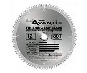 Freud TK406 10-inch Thin Kerf 60T Fine Cut Off Blade
