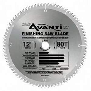 Freud, TK407 12'' Dia 80 ATB Tooth Thin Kerf Finishing Blade 13892