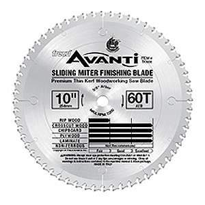 Freud, TK606 10'' Thin Kerf 60 Tooth Sliding Compound Miter / Radial Saw Blade 13891