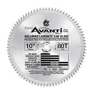 Freud 10-inch Thin Kerf 80TCG Tooth Laminate Floor & Melamines Blade 5/8'' Arbor