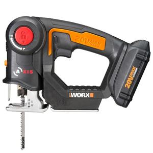 Positec Worx WX550L 20V Cordless Reciprocating Saw and Jigsaw with Tool-Free Blade Change