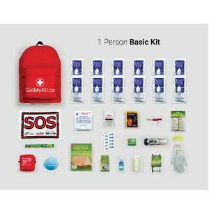 *Basic Emergency Kit – 1 Person Survival Kit