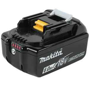 Makita, BL1860B, 197424-0 18-Volt 6.0 Ah LXT Lithium-Ion Battery with Fuel Gauge 17023