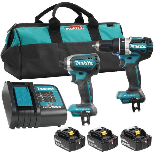Makita DLX2180SX1 18 Volt Lithium-ion Cordless Combo Kit, with Bonus Battery