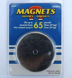 Heavy Duty Round Base Magnets (65 lb.), 07222