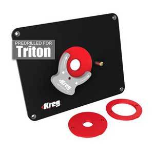Precision Router Table Insert Plate PRS4034 - Predrilled for Triton Router