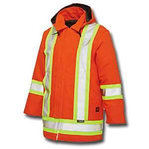 Tough Duck High Visibility Work Lined Parka s1747