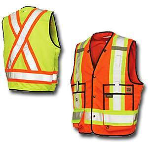Work King High Visibility Work Surveyor Vest (by Tough Duck) s313