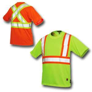 Work King High Visibility Work Short Sleeve T-Shirt w/ Pocket s392 by Tough Duck
