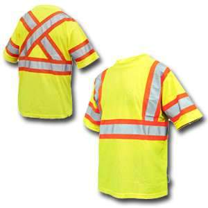 Work King High Visibility Work Short Sleeve T-Shirt w/ Arm Band s394 by Tough Duck