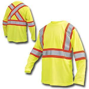Work King High Visibility Long Sleeve T-Shirt w/ Armband s396 by Tough Duck