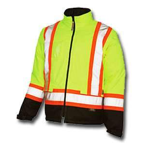 Work King High Visibility Work Lined 5-In-1 Jacket s426 by Tough Duck