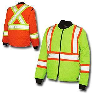 Work King High Visibility Work Quilted Safety Jacket s432 by Tough Duck