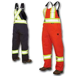 Tough Duck High Visibility Work Unlined Bib Overall s7647