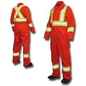 Work King High Visibility Work Poly / Cotton Unlined Coverall s792 by Tough Duck