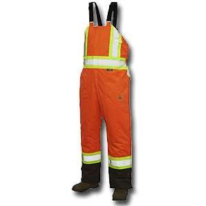 Work King High Visibility Work Lined Insulated Bib Overall s798 by Tough Duck