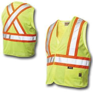 Work King High Visibility Work 5-Point Tearaway Vest s9i0 by Tough Duck