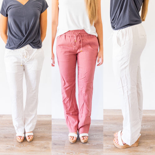 Walking on the Beach Linen Pants *Final Sale*
