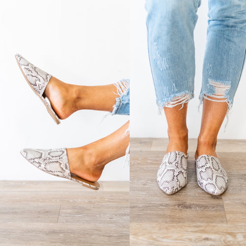 Get To The Point Slip On Mules