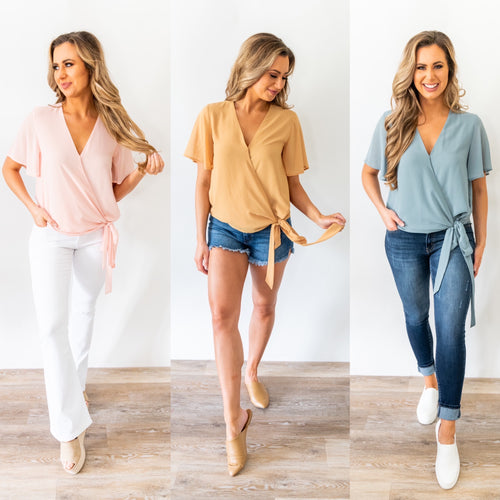 All the Love Wrap Blouse