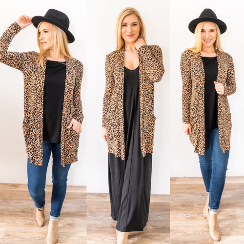 Born to be Wild Leopard Cardigan