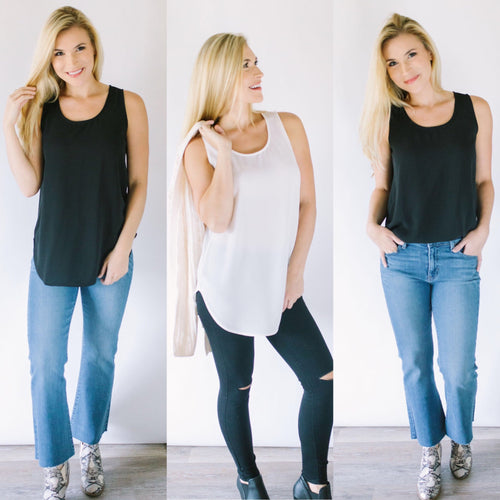 In the Mix Sleeveless Blouse