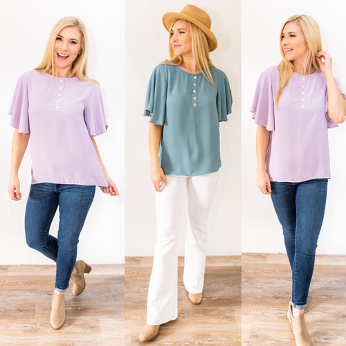 Pure Bliss Button Blouse