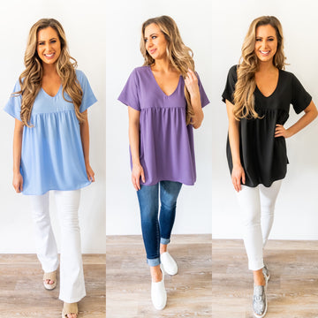 There Goes My Baby V-neck Blouse *Final Sale*