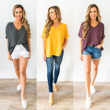 Picture Perfect Top With Pocket