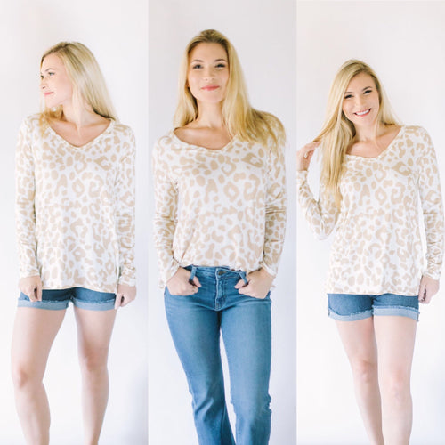 In the Spotlight Leopard Top in Taupe