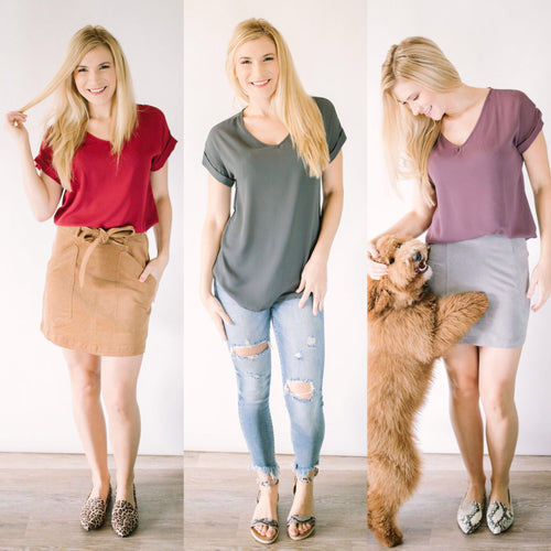 Back to the Basics V-Neck Blouse