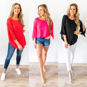 Everything I Wanted Tie Sleeve Top *Final Sale*