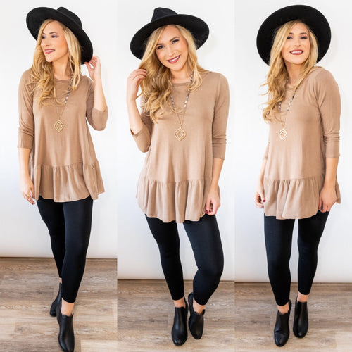Totally Taupe Tunic