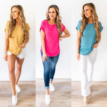 Back to the Basics Scoop Neck Top