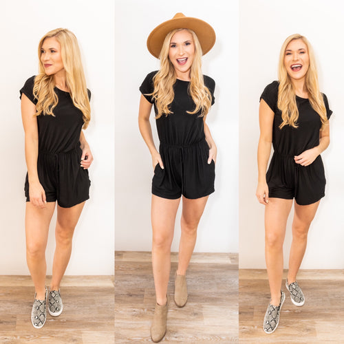 Back to Black Knit Romper