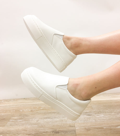 Walk in My Shoes Slip On Sneakers - White