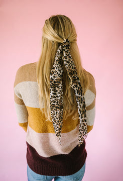 On Trend Hair Scarf in Leopard
