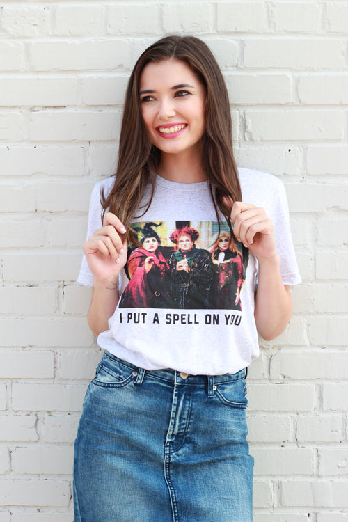 PRE-ORDER I Put a Spell on You Hocus Pocus T-Shirt:  Speckle White