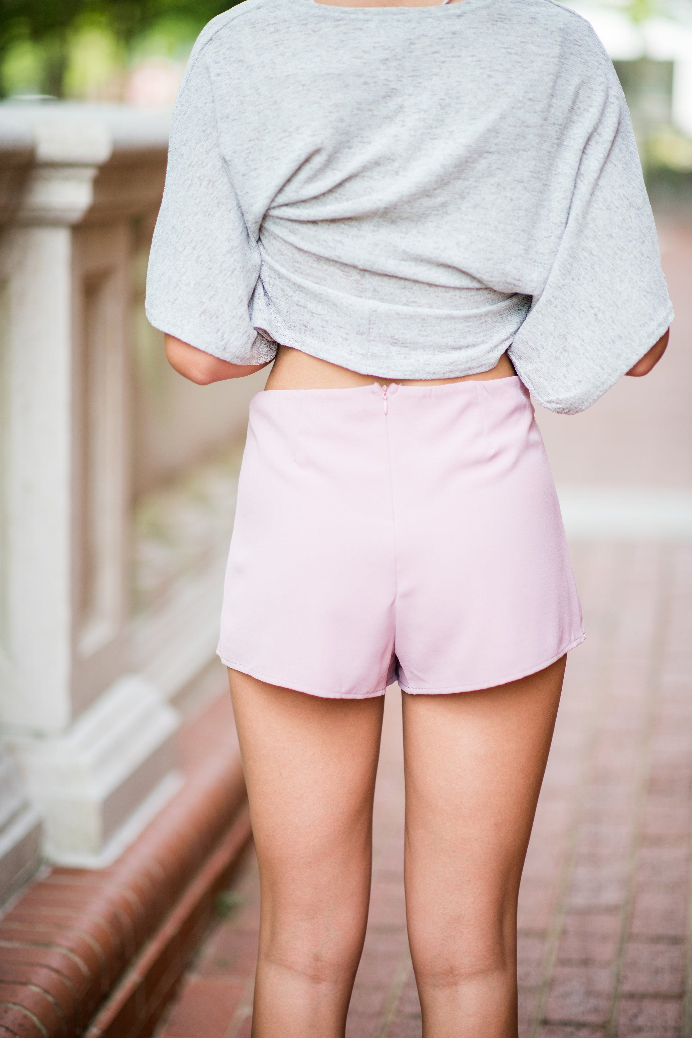 Dreams Are Made Of Wrap Skort with Back Zipper