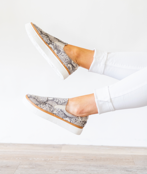 Catch Me Slip on Sneakers - Snakeskin