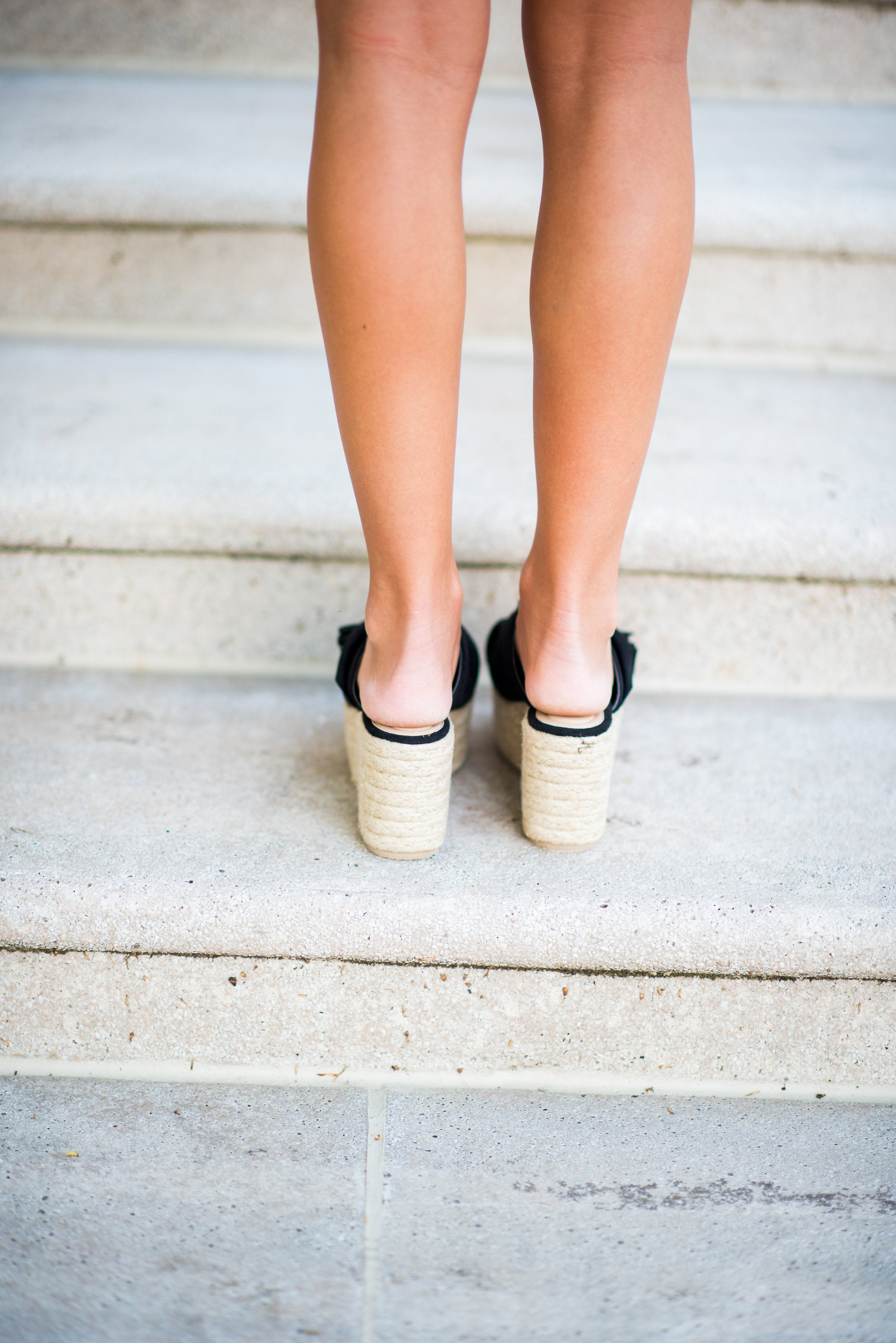 Step in the Right Direction Slip On Espadrilles with Simple Bow